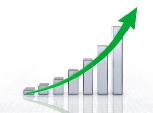 Een grafiek die een stijgende lijn toont.